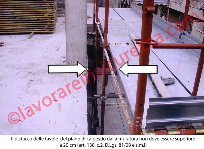 Il distacco delle tavole del piani di calpestio non deve superare 20 cm